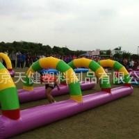 趣味运动会道具障碍四件套充气陆地超级障碍赛跨栏平衡木训练器材