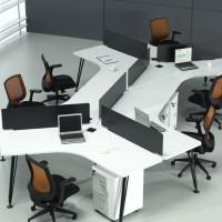 上海办公家具6人位办公桌椅组合简约现代职员桌屏风工作位电脑桌